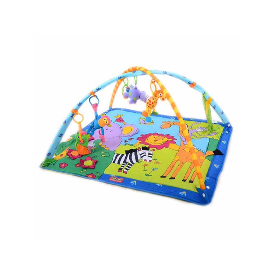 INTERACTIVE PLAY MAT/GYM WITH OVERHEAD TOYS