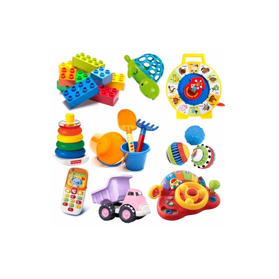 BAG OF FIVE ASSORTED TOYS