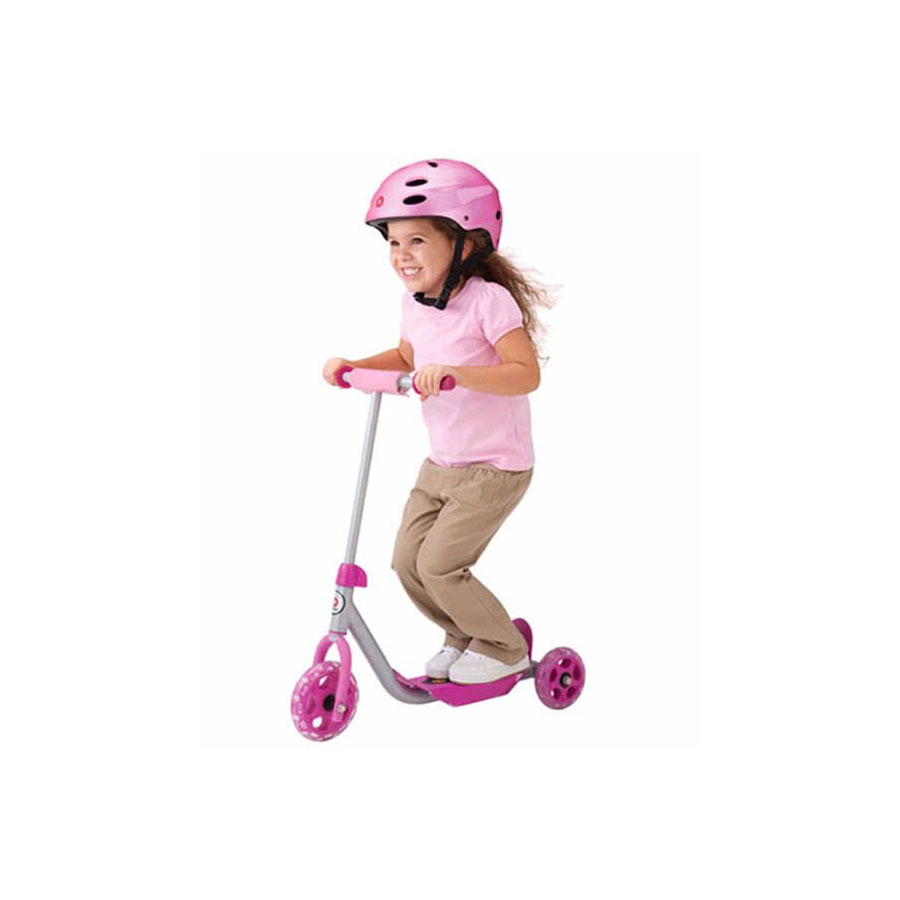 PINK THREE-WHEEL KIDS SCOOTER