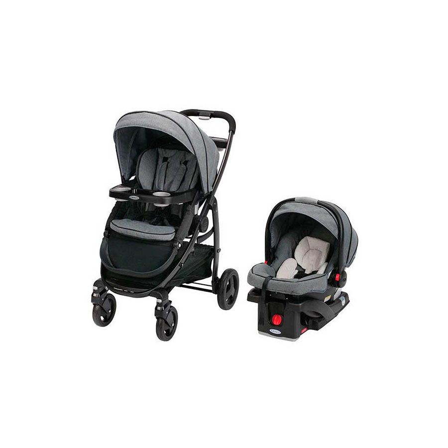 GRACO STROLLER WITH COMPATIBLE GRACO CAR SEAT COMBO