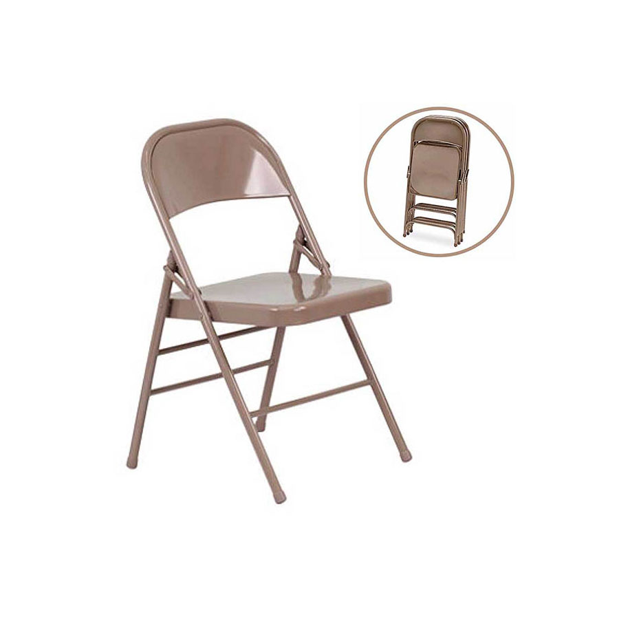 METAL FOLDING STACKABLE CHAIR