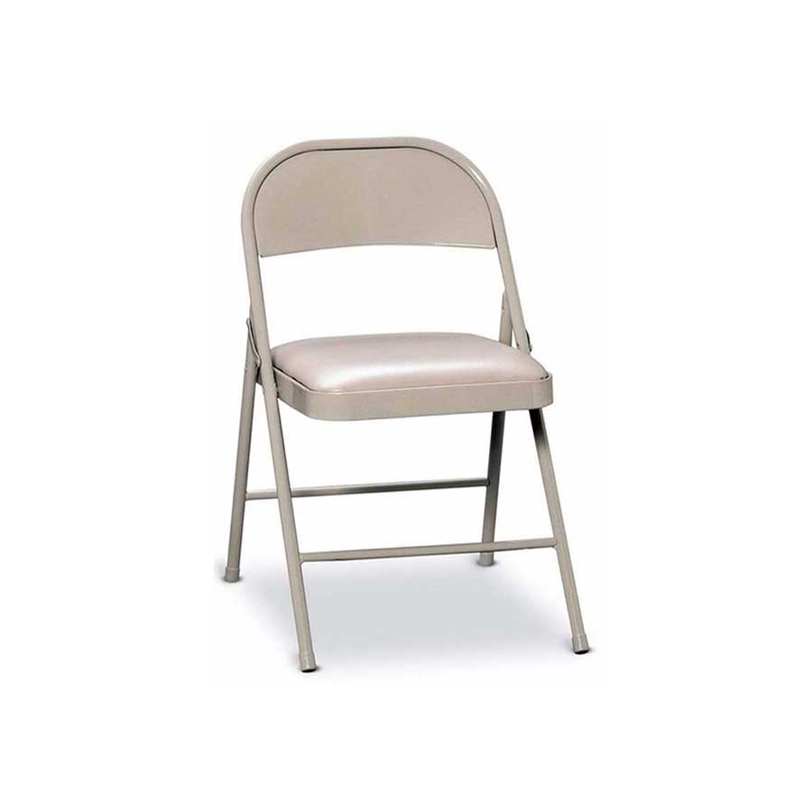 METAL FOLDING CHAIR WITH PADDED SEAT