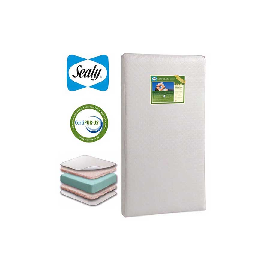 SEALY SOYBEAN PREMIUM CRIB MATTRESS