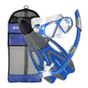 U.S. DIVERS MASK/SNORKEL/FINS/GEAR BAG