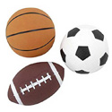 THREE SPORTS BALLS SET