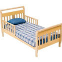VIP WOOD TODDLER BED INCLUDING MATTRESS, PAD AND FITTED SHEET
