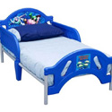 BOYS TODDLER BED INCLUDING MATTRESS, PAD, SHEET & BLANKET
