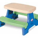 LITTLE TIKES JUNIOR PICNIC TABLE WITH BENCHES