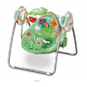 FISHER PRICE RAINFOREST SPACE SAVER CRADLE/SWING SEAT