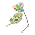 FISHER PRICE RAINFOREST OPEN TOP CRADLE/SWING