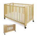 "SMALL (26""x40"")WOOD PORTA-CRIB BY FOUNDATIONS"