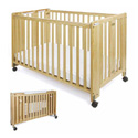 "LARGE(30""x54"") WOOD CRIB BY FOUNDATIONS"